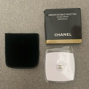 White Chanel double face compact mirror brand new